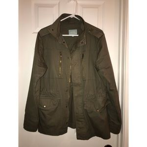 Skies Are Blue Green Utility Jacket L